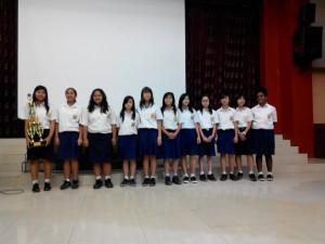 Tim Basket Putri SMPK 1 Bina Bakti 2014